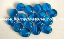 Decorative Flat Blue Glass Beads
