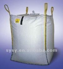 Waterproof beige color PP bulk ton bag for cement,sugar,fertilizer,coal