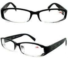 2012 new design printing plastic reading glass