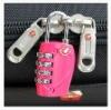 christmas promotion safe reset zipper travel luggage lock