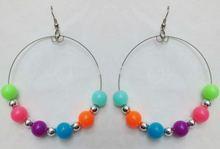 novelty big design colorful jewelry,pedant bubble briolette monogram earring