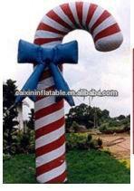 Moda infaltable navidad del bastón de caramelo / decoración de la navidad / gigante navidad del bastón de caramelo
