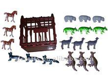 yeni komik plastik orman hayvan oyuncak setleri