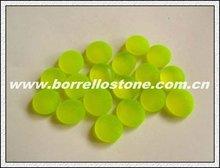 Aquarium Green Flat Glass Beads