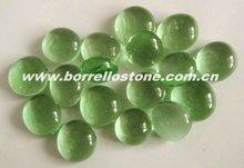 Light Green Flat Glass Beads