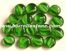 Hot Sale Green Flat Bottom Glass Beads