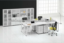 hot -sale new design 4 people white office partitions desk/table/workstation