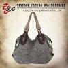 2012 Vintage Garment Wash Printed Canvas Handbag/Tote Bag/Shoulder Bag