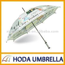 stylish newspaper golf umbrella