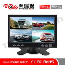 7 inch car backup monitor car quad monitor/4 channel