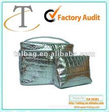 2012 hottest croc grain pvc leather cosmetic case