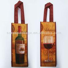 2012 One bottle pp woven wine bag
