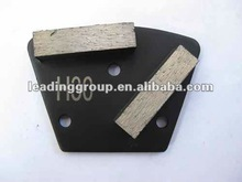 Trapezoid Grinding PlatesWith Double Square Diamond Segments - Hard Bond For Soft Concrete