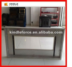 sheet metal stainless steel fireplace surrounds