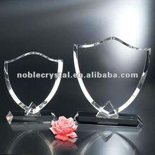 Noble Clear Optical Crystal Shield Designer Award Trophy