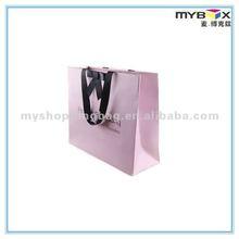 2012 Cute printed pink paper shopping bag