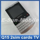 E-SUN unlocked quad band qwerty mobile phone 9981/q15 with TV function