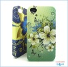 A chromatic flower hard procective text cell phone cover for iphone 4g/4s