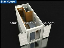 movable prefab shipping container shop