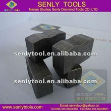 High frequency segmented diamond for blade/multi-blade/gang blade