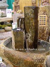3-tier natural basalt water fountain
