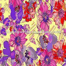 2012 custom floral printed fabrics for garment/printed fabrics textile