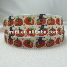New 3/8'' Pumpkin Avatar halloween printed ribbon