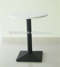 Customized white round rotating dining table
