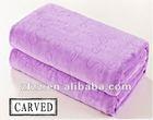 Hot sell embossed coral fleece blanket