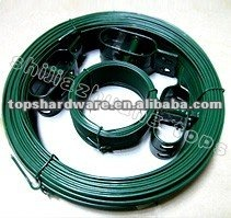 the supplier of black/twist/green plastic coated garden wire