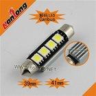 Festoon 5050 3smd canbus led bulb for car