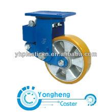 shock absorbing caster wheel