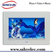 800X480 resolution led panel 7 inch best digital photo frame 2012 (DPF9740D)