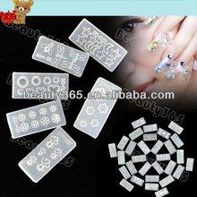 Hot Wholesale 30 PCS Acrylic Mold For 3D Nail Art Decoration DIY Set