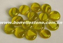 Swimming Pool Yellow Flat Glass Beads