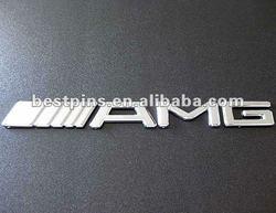 custom car vehicle metal emblems, chrome letter car emblem