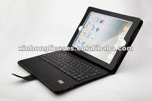 Keyboard leather case For ipad2 ipad3