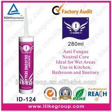 Anti Mildew Bath and Sanitary Silicone Sealant manufacture(SGS,REACH,TUV)