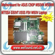 For ASUS C90P M50VN M50VM M70SA G50VT X55S F5V M50V Laptop motherboard , systerm board , mainboard