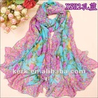 2012 Fashion Chiffon Shawl scarf, Can wear as a muslim scarf , Stock Many colors Wholesale Price