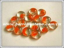Orange Glass Beads For Decorating