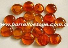Decorative Orange Glass Beads