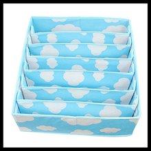 china factory multi interlayer foldabe underwear / socks storage boxes without lid