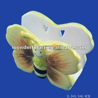 butterfly shape ceramic car napkin holders