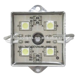 35mm*35mm Waterproof LED Module(SMD 5050,4LEDs,metal shell,white light)