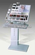 Acrylic cosmetic floor stand display
