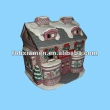 Colonial Village Elegant Lady Building Christmas Decoration