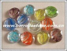 Mixed Flat Glass Beads For Garden Ornament