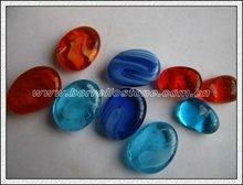 Mix Color Flat Glass Beads For Aquarium