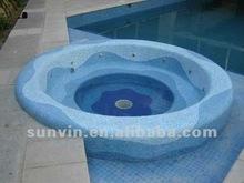 Sandybeach blue melt glass swimming pool mosaic tile for sale